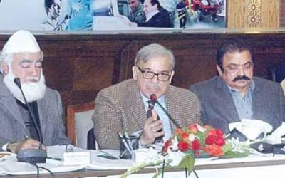 شہبازشریف کے زیرصدارت ن لیگ کے اجلاس، عمران خان کے ساتھ حلف نہ اٹھانے کا فیصلہ