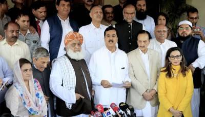 الیکشن 2018، گرینڈ اپوزیشن الائنس کا قومی اسمبلی میں جانے ، دھاندلی کیخلاف احتجاج کا اعلان، مولانافضل الرحمان نے بھی پارلیمنٹ جانے پر رضامندی ظاہر کردی
