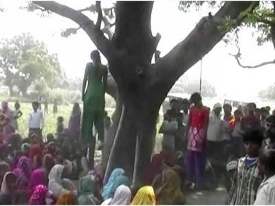 کسان کے اہل خانہ کی درختوں سے لٹکتی 4لاشیں، خودکشی کا شبہ