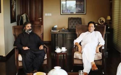 شاہ زین بگٹی کی بنی گالا میں عمران خان سے ملاقات،وزیراعظم کے لیے حمایت کا اعلان