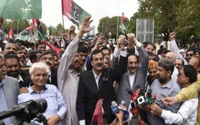 اپوزیشن جماعتوں کااحتجاج،عدلیہ مخالف نعروں پرمقدمہ درج،دہشتگردی کی دفعات شامل