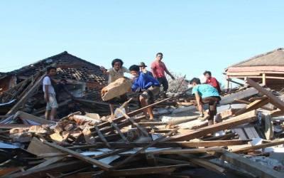 انڈونیشیا میں زلزلہ، ہلاکتوں کی تعداد 387 ہو گئی