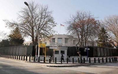 ترکی ، امریکی سفارت خانے پر نامعلوم کار سوار فائرنگ کر کے فرار