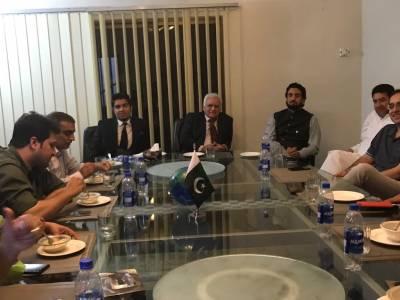 چئیرمین پی ٹی آئی ایگزیکٹو بورڈ کویت پیر امجد حسین کی اسلام آباد میں حکومتی وزرا سے ملاقاتیں