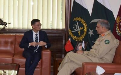 آرمی چیف سے چینی سفیر کی اہم ملاقات ،علاقائی سیکیورٹی کے حوالے سے تبادلہ خیال