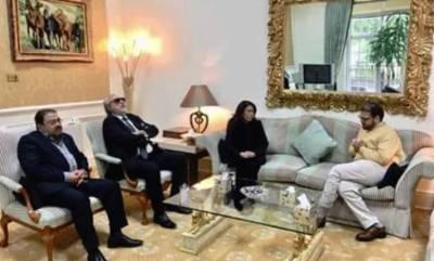 سابقہ وزیراعظم بے نظیر بھٹو کی بہن صنم بھٹو کی لندن میں حسین نواز سے ملاقات ،بیگم کلثوم نواز کے انتقال پر اظہار افسوس