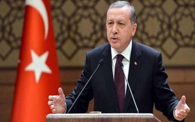شامی شہر '' منبج '' میں کرد فورسز کی سرنگیں ان کا قبرستان ثابت ہوں گی: ترک صدر