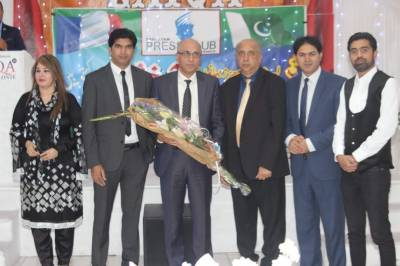 پاکستان پریس کلب پیرس فرانس کی تقریب حلف برداری کی پروقار تقریب