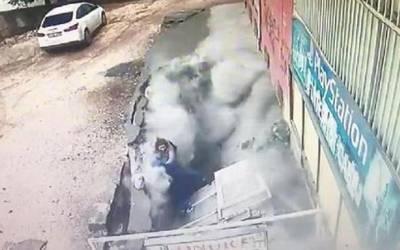 ترکی میں زمین نے پلک جھپکنے میں2 خواتین کو نگل لیا