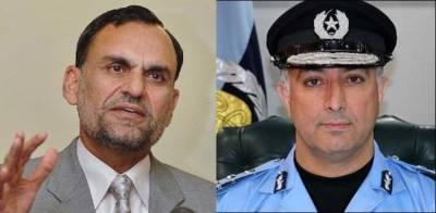 اعظم سواتی کی آئی جی اسلام آباد سے دومرتبہ بات ہوئی ، پولیس ذرائع نے الزامات کی تردید کردی