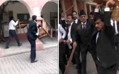 فیصل آباد میں ہائیکورٹ بنچ کے قیام کیلئے احتجاج کے دوران وکلاءمشتعل ،سیشن کورٹ میں توڑپھوڑ