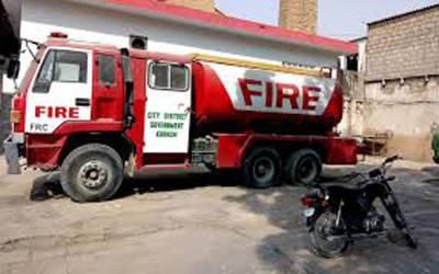 ایمپریس مارکیٹ میں صفائی کے دوران گیس کی لائن میں آگ لگ گئی