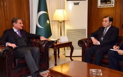 وزیر خارجہ شاہ محمود قریشی سے چینی معاون وزیر خارجہ کی ملاقات،باہمی دلچسپی کے امور پر تبادلہ خیال