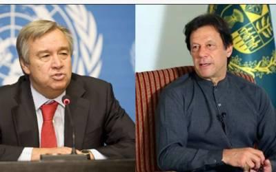مقبوضہ کشمیر کی موجودہ صورتحال ناقابل برداشت ہے :وزیر اعظم عمران خان کاا قوام متحدہ سے نوٹس لینے کامطالبہ
