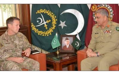 آرمی چیف جنرل قمر جاوید باجوہ سے امریکی فوج کے کمانڈر جنرل ملر کی ملاقات ،افغانستان کے سیاسی حل پر اتفاق