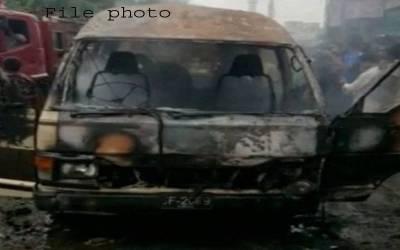 اورنگی ٹاؤن سکول وین میں آتشزدگی کا مقدمہ درج