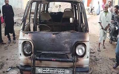کراچی میں سکول وین میں آگ لگنے کا مقدمہ درج