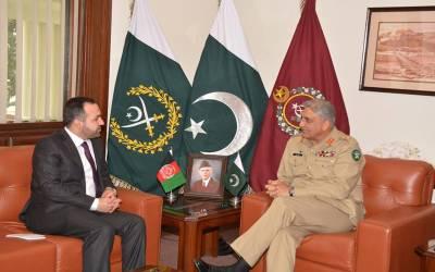 آرمی چیف سے افغانستان کے نئے سفیر کی جی ایچ کیو میں ملاقات