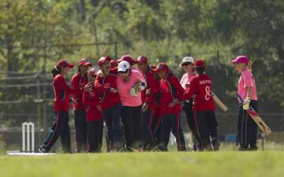نیپال کی بلائنڈ ویمن کرکٹ ٹیم پاکستان پہنچ گئی