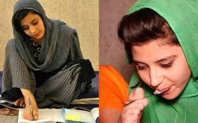 دونوں ہاتھوں سے محروم پشاور کی لڑکی نے ہمت و حوصلے کی نئی داستان رقم کردی