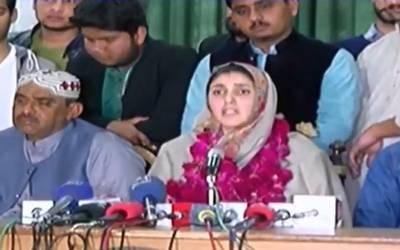 نوبل پرائز وزیر اعظم کی بجائے آرمی چیف یا مولانا طارق جمیل کو دیا جائے:عائشہ گلالئی