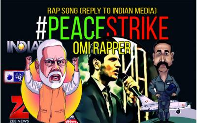 """اومی ریپر کے نئے گانے """"peace strike""""نے سوشل میڈ یا پر دھوم مچا دی"""