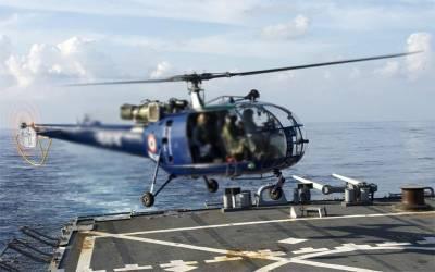 بھارت کا ہیلی کاپٹر بحیرہ عرب میں گر گیا اور پھر ۔۔