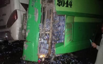 خضدار ، مسافر بسوں میں تصادم سے 5افراد جاں بحق ، 20زخمی ہوگئے