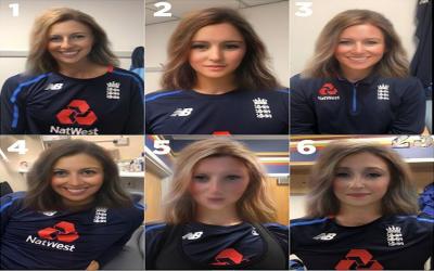 کیا آپ بتاسکتے ہیں کہ تصویر میں نظر آنے والے انگلینڈ کی مردانہ ٹیم کے ان کھلاڑیوں کے نام کیا ہیں اور انہوں نے یہ حلیہ کیسے بنایا؟