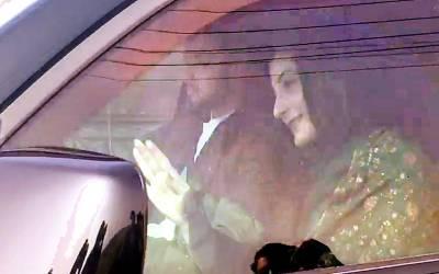 مسلم لیگ ن کی نائب صدر مریم نوازپارلیمنٹ ہاﺅس پہنچ گئیں