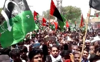 سابق صدر آصف علی زرداری کی گرفتاری، پریس کلب عمرکوٹ کے سامنے بڑے احتجاجی مظاہرے