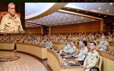 آرمی چیف کی زیر صدارت سالانہ فارمیشن کمانڈر ز کانفرنس