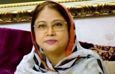 رکن سندھ اسمبلی فریال تالپورکی آج رات کراچی منتقلی کافیصلہ