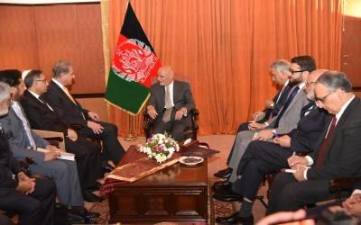 وزیر خارجہ سے افغان صدر کی ملاقات،دوطرفہ تعلقات،افغان امن عمل اور باہمی دلچسپی کے امور پر تبادلہ خیال
