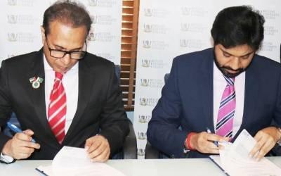 احمد الگیباری چارٹر اکاﺅنٹنٹس اور سکائی لائن یونیورسٹی متحدہ عرب امارات کے درمیان ایم او یو پر دستخط