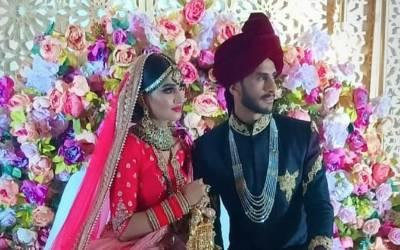 حسن علی کی شادی کی تصاویر سامنے آگئیں ،دلہا دلہن کیسے لگ رہے تھے ؟آپ بھی دیکھیں