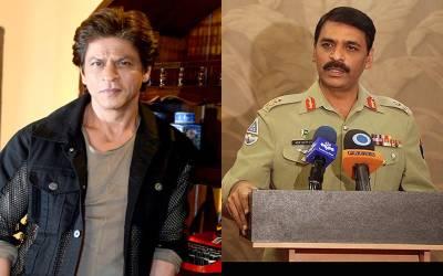 ڈی جی آئی ایس پی آر نے پاکستان مخالف ویب سیریز بنانے والے شاہ رخ خان کو منہ توڑ جواب دے دیا