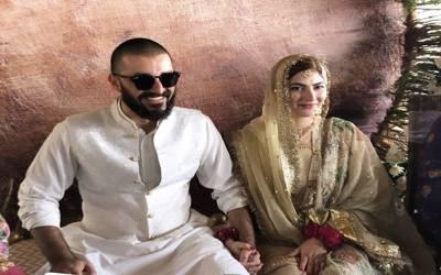 حمزہ علی عباسی اور نیمل خاور شادی کے بندھن میں بندھ گئے، نکاح کی تصاویر سامنے آگئیں