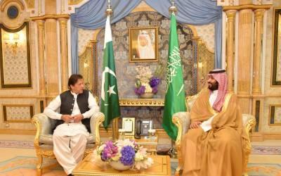وزیر اعظم عمران خان کی شہزادہ محمد بن سلمان سے ملاقات ، سعودی تنصیبات پر حملوں کی مذمت ،ولی عہد کوکشمیر کی صورتحال سے آگاہ کیا