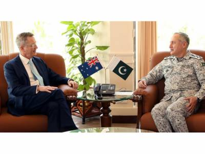 آسٹریلوی ہائی کمشنر کی پاک بحریہ کے سر براہ سے ملاقات،پیشہ ورانہ امور اور باہمی دفاعی اشتراک پر تفصیلی تبادلہ خیال