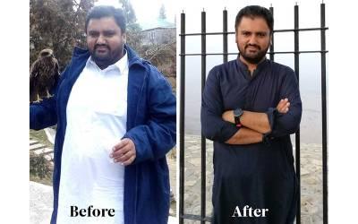 وہ پاکستانی جس نے چند ماہ میں 43 کلو وزن کم کرکے مثال قائم کر دی، طریقہ بھی بتادیا