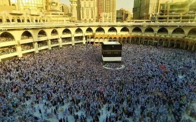 عالمی خلائی سٹیشن سے مکہ مکرمہ کیسا نظر آتا ہے؟ متحدہ عرب امارات کے مسلمان خلا باز نے تصویر شیئر کردی