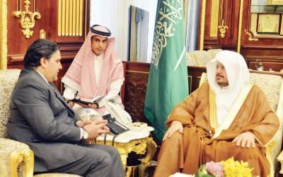 پاکستانی سفیر راجہ علی اعجاز کی ریاض میں سعودی شوریٰ کونسل کے سپیکر شیخ ڈاکٹر عبداللہ بن محمد بن ابراہیم الشیخ سے ملاقات