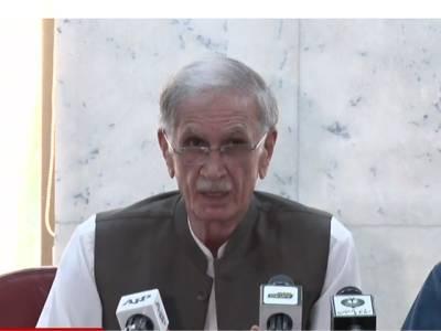 وزیراعظم کا استعفیٰ ناممکن بات،اپوزیشن کا ایجنڈا پاکستان ہے تو مذاکرات کی میز پر بیٹھے :پرویز خٹک
