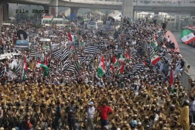 پولیس نے آزادی مارچ کے شرکاء کی گنتی اور دیگر تفصیلات اکٹھی کرنا شروع کردیں