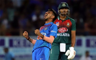 بھارت نے دوسرے ٹی ٹوئنٹی میچ میں بنگلہ دیش کو شکست دے دی