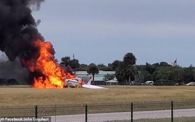 ٹیک آف کے دوران طیارے میں آگ بھڑک اٹھی لیکن اندر موجود دونوں افراد زندہ کیسے بچ گئے؟ جان کر آپ کو فلمی سین یاد آجائے