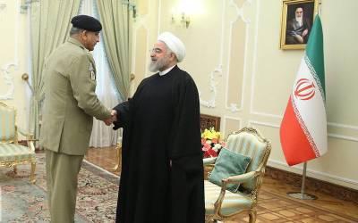 آرمی چیف کی حسن روحانی ، ایرانی ہم منصب اور سپریم نیشنل سکیورٹی کونسل کے سیکرٹری سے ملاقاتیں