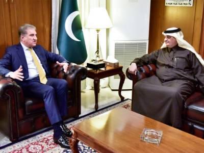 سعودی سفیر کی شاہ محمود قریشی سے ملاقات،خطے کی صورتحال، دو طرفہ تعلقات سمیت باہمی دلچسپی کے امور پر تبادلہ خیال