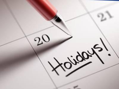 وفاقی حکومت نے قومی ایام اور مذہبی تہواروں پر عام اور اختیاری تعطیلات کا سالانہ کیلنڈر جاری کر دیا